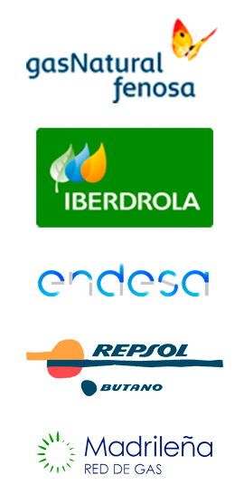 Servicio de asistencia tecnica de calderas GAS NATURAL, ENDESA, REPSOL BUTANO, MADRILEÑA RED DE GAS