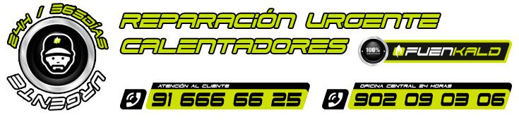 reparación urgente de calentadores en Fuenlabrada