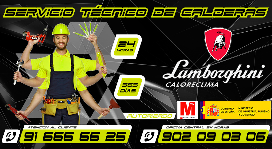 Servicio Técnico Calderas Lamborghini en Fuenlabrada