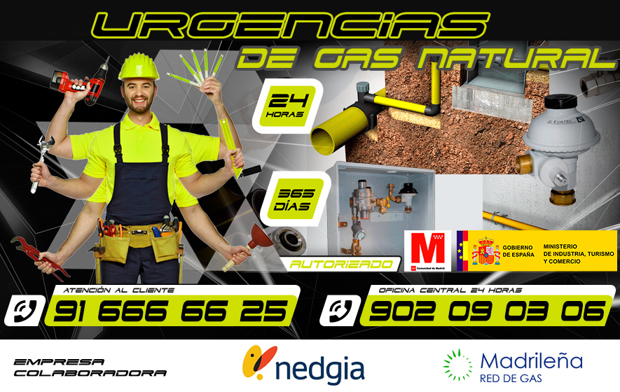 Urgencias de Gas Natural en Fuenlabrada